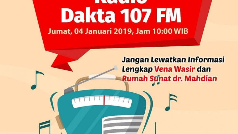 Vena Wasir Center, Talk Show di Radio Dakta